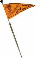 Baseball Collectibles:Others, 1934 Detroit Tigers A.L. Championship Pennant in Cane. Fabulouswalking stick was almost certainly sold at Navin Field as C...