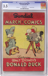 March of Comics #4 Donald Duck (K. K. Publications, Inc., 1947) CGC VG- 3.5 Off-white pages