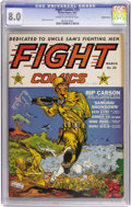 Golden Age (1938-1955):War, Fight Comics #25 Double Cover (Fiction House, 1943) CGC VF 8.0Cream to off-white pages....