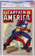 Golden Age (1938-1955):Superhero, Captain America Comics #59 Ohio pedigree (Timely, 1946) CGC VF/NM 9.0 Off-white to white pages. ...