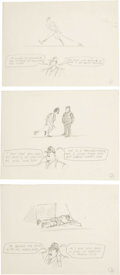 "Original Comic Art:Miscellaneous, Paul Peter Porges - Mad #145 ""What Coaches Say...,"" Gag PreliminarySketch Original Art, Group of 11 (EC, 1971). ... (Total: 11)"
