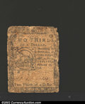 Colonial Notes:Continental Congress Issues, February 17, 1776, $2/3, Continental Congress Issue, CC-22, VG....