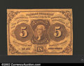 Fractional Currency:First Issue, First Issue 5c, Fr-1230, XF. This is the type note with ...