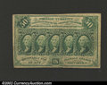 Fractional Currency:First Issue, First Issue 50c, Fr-1312, Fine-VF. Type variety with straight ...