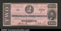 Confederate Notes:1862 Issues, 1862 $2 Judah P. Benjamin, T-54, Choice AU. ...