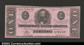 Confederate Notes:1863 Issues, 1863 $1 Clement C. Clay, T-62, Choice CU. A nice example of ...
