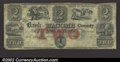 Obsoletes By State:Michigan, 1855 $2 Bank of Macomb County, Mt. Clemens, MI, G24a, VF. This ...
