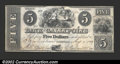 Obsoletes By State:Ohio, 1839 $5 Bank of Gallipolis, OH, G2, VF+. A problem-free note ...
