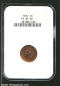 "Proof Indian Cents: , 1877 1C PR 63 Red and Brown NGC. The latest Coin World ""..."