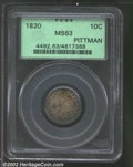 """Bust Dimes: , 1820 10C Large 0 MS63 PCGS. The latest Coin World """"Trends"""" ..."""