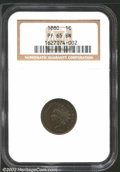 Proof Indian Cents: , 1880 1C PR 65 Brown NGC. ...