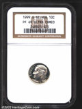 Proof Roosevelt Dimes: , 1999-S 10C Silver PR 69 Deep Cameo NGC. ...