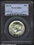 "Kennedy Half Dollars: , 1964-D 50C MS66 PCGS. The latest Coin World ""Trends"" price ..."