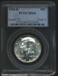 """Kennedy Half Dollars: , 1968-D 50C MS66 PCGS. The latest Coin World """"Trends"""" price ..."""