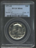 "Kennedy Half Dollars: , 1971-D 50C MS66 PCGS. The latest Coin World ""Trends"" price ..."