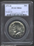 "Kennedy Half Dollars: , 1972-D 50C MS66 PCGS. The latest Coin World ""Trends"" price ..."