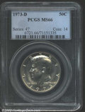 "Kennedy Half Dollars: , 1973-D 50C MS66 PCGS. The latest Coin World ""Trends"" price ..."
