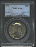 "Kennedy Half Dollars: , 1978 50C MS66 PCGS. The latest Coin World ""Trends"" price is $..."