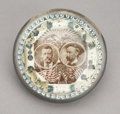 Political:3D & Other Display (1896-present), Roosevelt & Fairbanks: Jugate Paperweight with Sepia Design....