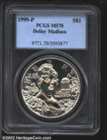 Modern Issues: , 1999-P $1 Dolley Madison Silver Dollar MS70 PCGS. ...