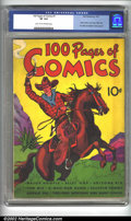 Golden Age (1938-1955):Miscellaneous, 100 Pages of Comics #1 (Dell, 1937) CGC VF 8.0 Light tan to off-white pages. Overstreet 2002 VF 8.0 value = $1,053....