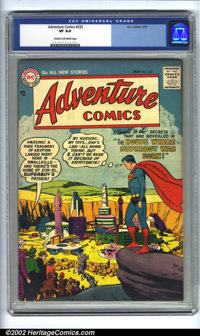 Adventure Comics #232 (DC). CGC VF 8.0 Cream to off-white pages. Overstreet 2002 VF 8.0 value = $162