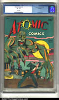 Golden Age (1938-1955):Horror, Atomic Comics #2 Big Apple pedigree (Green Publishing Co., 1946) CGC VF- 7.5 White pages. Overstreet 2002 VF 8.0 value = $39...