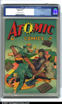Atomic Comics #3 Big Apple pedigree (Green Publishing Co., 1946) CGC FN/VF 7.0 Off-white to white pages. Matt Baker artw...