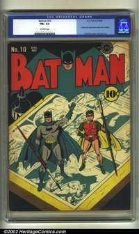 Batman #10 (DC, 1942) CGC FN+ 6.5 Off-white pages. Catwoman appearance with new costume. Fred Ray cover. Jack Burnley ar...