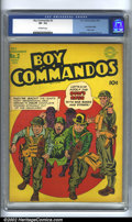 Golden Age (1938-1955):War, Boy Commandos #2 (DC, 1943) CGC VF- 7.5 Off-white pages. Overstreet2002 VF 8.0 value = $1,136....