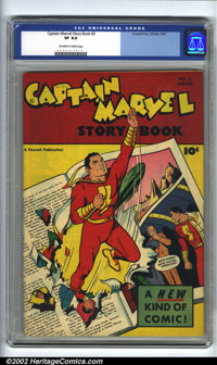 Captain Marvel Story Book #2 (Fawcett, 1947). CGC VF 8.0 Off-white to white pages. Overstreet 2002 VF 8.0 value = $270...