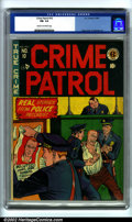 Golden Age (1938-1955):Crime, Crime Patrol #10 (EC, 1949). CGC FN- 5.5 Cream to off-white pages. Overstreet 2002 FN 6.0 value = $168....