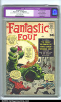 Silver Age (1956-1969):Superhero, Fantastic Four #1 (Marvel, 1961) CGC Apparent VG 4.0 Slight (A) Cream to off-white pages. Restoration includes color touch, ...