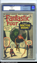 Silver Age (1956-1969):Superhero, Fantastic Four #5 (Marvel, 1962) CGC VF 8.0 Off-white pages. Originand first appearance of Dr. Doom. Overstreet 2002 VF 8.0...