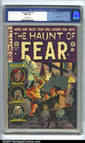 "Golden Age (1938-1955):Horror, The Haunt of Fear #19 (EC, 1953) CGC NM- 9.2 Off-white pages. Thisis the famous book used in Seduction of the Innocent, ""A ..."