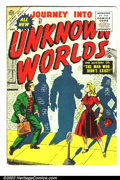 "Golden Age (1938-1955):Science Fiction, Journey into Unknown Worlds #37 (Atlas, 1955) Condition: VG.Classic ""Big Code"" Atlas science-fiction. Nice pages. Overstree..."