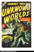 "Golden Age (1938-1955):Science Fiction, Journey into Unknown Worlds #42 (Atlas, 1956) Condition: VG-. Great""Big Code"" science-fiction from Atlas. Small piece of ta..."
