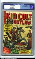 Golden Age (1938-1955):Western, Kid Colt Outlaw #9 Mile High pedigree (Marvel, 1950). CGC VF/NM 9.0Off-white to white pages. Overstreet 2002 NM 9.4 value =...