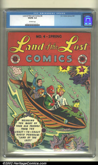 Land of the Lost #4 (EC, 1947). CGC VG/FN 5.0 Off-white pages. Overstreet 2002 GD 2.0 value = $20; FN 6.0 value = $60...