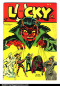 Golden Age (1938-1955):Horror, Lucky Comics #5 (Consolidated Magazines, 1946). VG/FN, cool Devilcover. ...