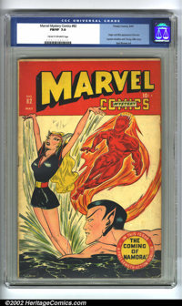 Marvel Mystery Comics #82 (Timely, 1947) CGC FN/VF 7.0 Cream to off-white pages. Origin and first appearance of Namora...