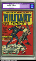 Golden Age (1938-1955):War, Military Comics #6 (Quality, 1942) CGC Apparent NM- 9.2 Slight (P)Off-white to white pages. Cuidera cover, Bob Powell art. ...