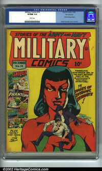 Military Comics #14 Pennsylvania pedigree (Quality, 1942) CGC VF/NM 9.0 White pages. Private Dogtag begins. Reed Crandal...