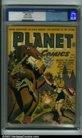 Golden Age (1938-1955):Science Fiction, Planet Comics #27 (Fiction House, 1943) CGC FN+ 6.5 Off-white pages. Graham Ingels art. Tiny hole on 1st 16 pages. Classic F...