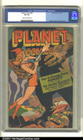 Golden Age (1938-1955):Science Fiction, Planet Comics #45 (Fiction House, 1946). CGC FN 6.0 Cream tooff-white pages. Overstreet 2002 FN 6.0 value = $231....