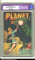 Golden Age (1938-1955):Science Fiction, Planet Comics #47 (Fiction House, 1947). CGC Apparent VF- 7.5Moderate (P) Cream to off-white pages. Restoration includes: m...
