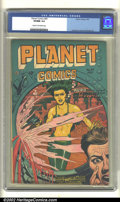 Golden Age (1938-1955):Science Fiction, Planet Comics #49 (Fiction House, 1947). CGC VF/NM 9.0 Cream to off-white pages. Overstreet 2002 NM 9.4 value = $675....
