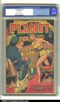 Golden Age (1938-1955):Science Fiction, Planet Comics #50 (Fiction House, 1947). CGC VF 8.0 Cream tooff-white pages. Overstreet 2002 VF 8.0 value = $381....