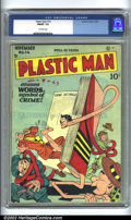 Golden Age (1938-1955):Superhero, Plastic Man #14 (Quality, 1948) CGC FN/VF 7.0 Off-white pages. Overstreet 2002 FN 6.0 value = $129; VF 8.0 value = $257....