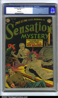 Golden Age (1938-1955):Horror, Sensation Mystery #112 (DC, 1952) CGC VG 4.0 Off-white pages.Overstreet 2002 GD 2.0 value = $43; FN 6.0 value = $129....